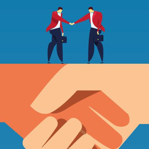 Broker Business Partnership Brand design, branding design for insurance, Leaflet design